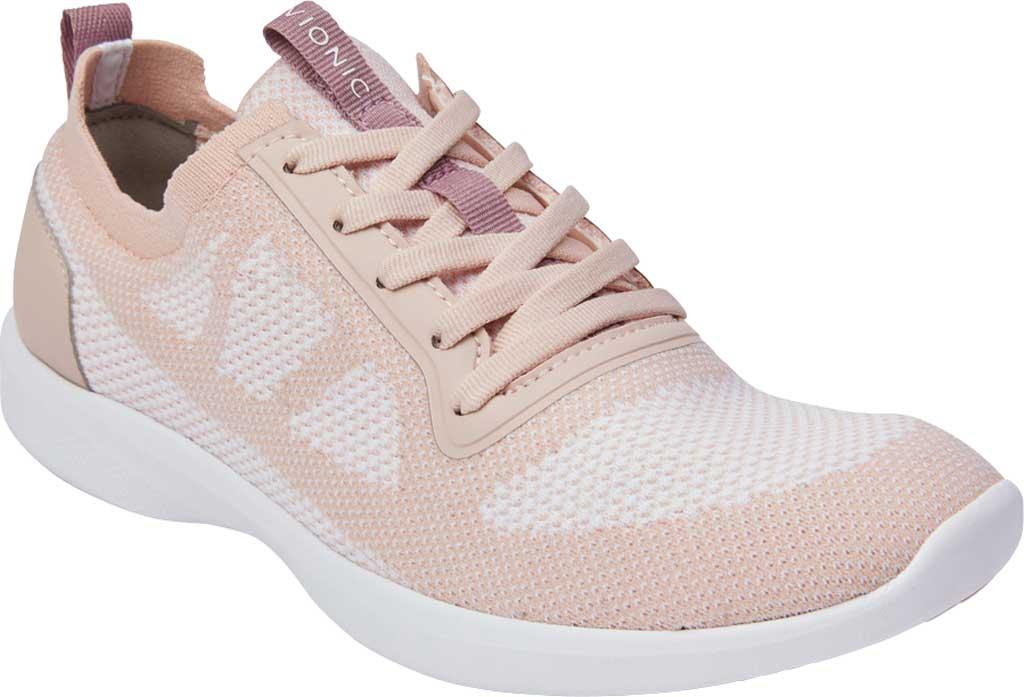 Women's Vionic Lenora Lace Up Sneaker, Blush Engineered Mesh, large, image 1