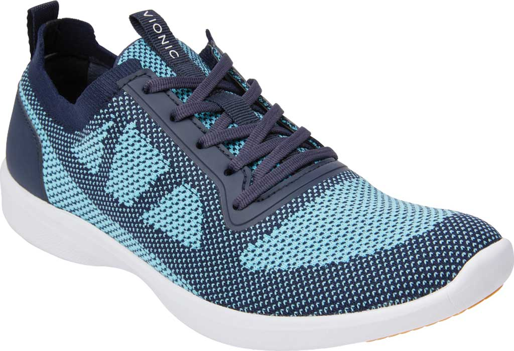 Women's Vionic Lenora Lace Up Sneaker, Navy Engineered Mesh, large, image 1