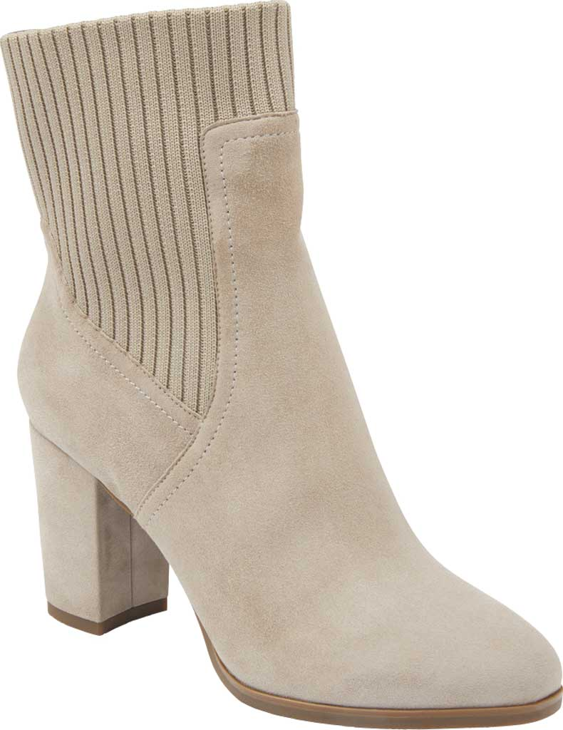 Women's Vionic Kaylee Ankle Bootie, Dark Taupe Knit/Suede, large, image 1
