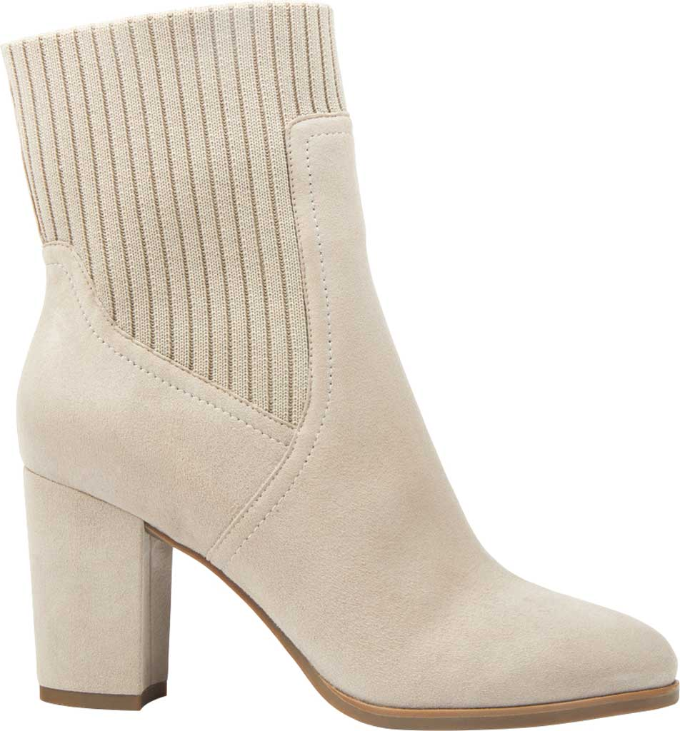 Women's Vionic Kaylee Ankle Bootie, Dark Taupe Knit/Suede, large, image 2