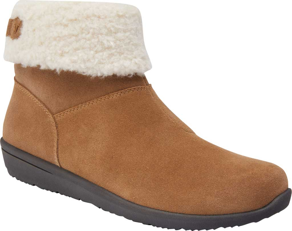 Women's Vionic Ruth Ankle Bootie, Wheat Suede, large, image 1