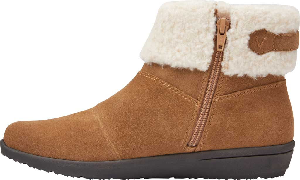 Women's Vionic Ruth Ankle Bootie, Wheat Suede, large, image 3