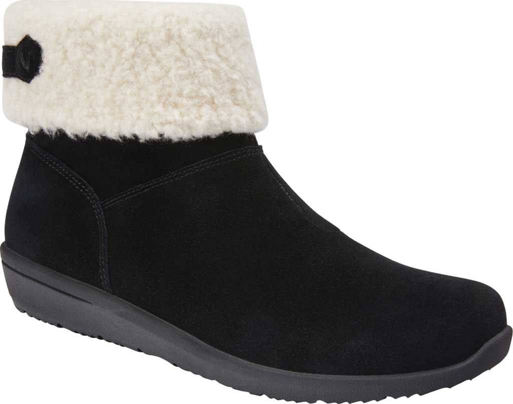 Women's Vionic Ruth Ankle Bootie, Black Suede, large, image 1