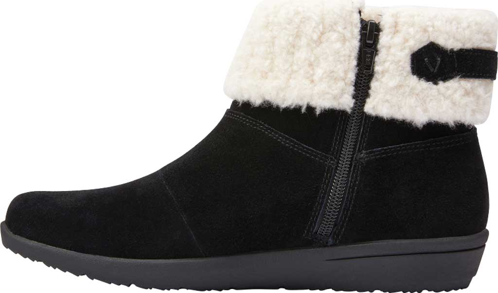 Women's Vionic Ruth Ankle Bootie, Black Suede, large, image 3