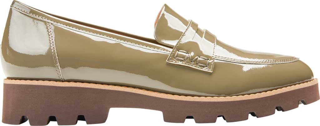 Women's Vionic Cheryl Penny Loafer, Olive Patent Leather, large, image 2