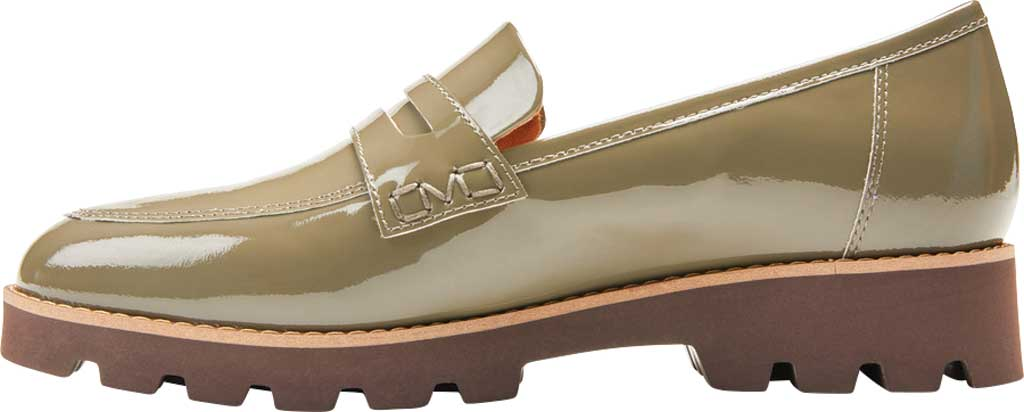 Women's Vionic Cheryl Penny Loafer, Olive Patent Leather, large, image 3
