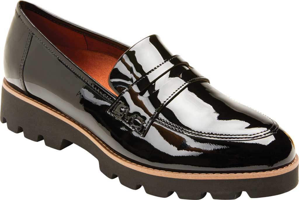 Women's Vionic Cheryl Penny Loafer, Black Patent Leather, large, image 1