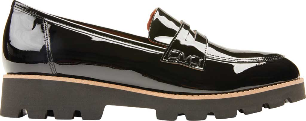 Women's Vionic Cheryl Penny Loafer, Black Patent Leather, large, image 2