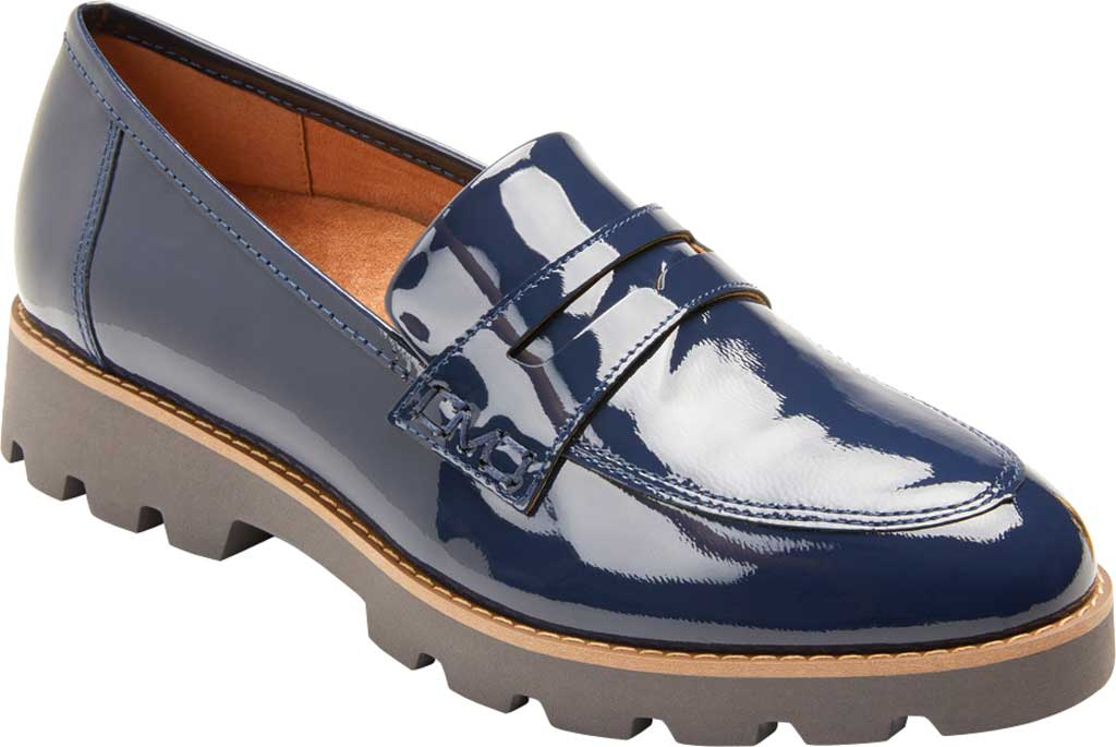 Women's Vionic Cheryl Penny Loafer, Navy Patent Leather, large, image 1