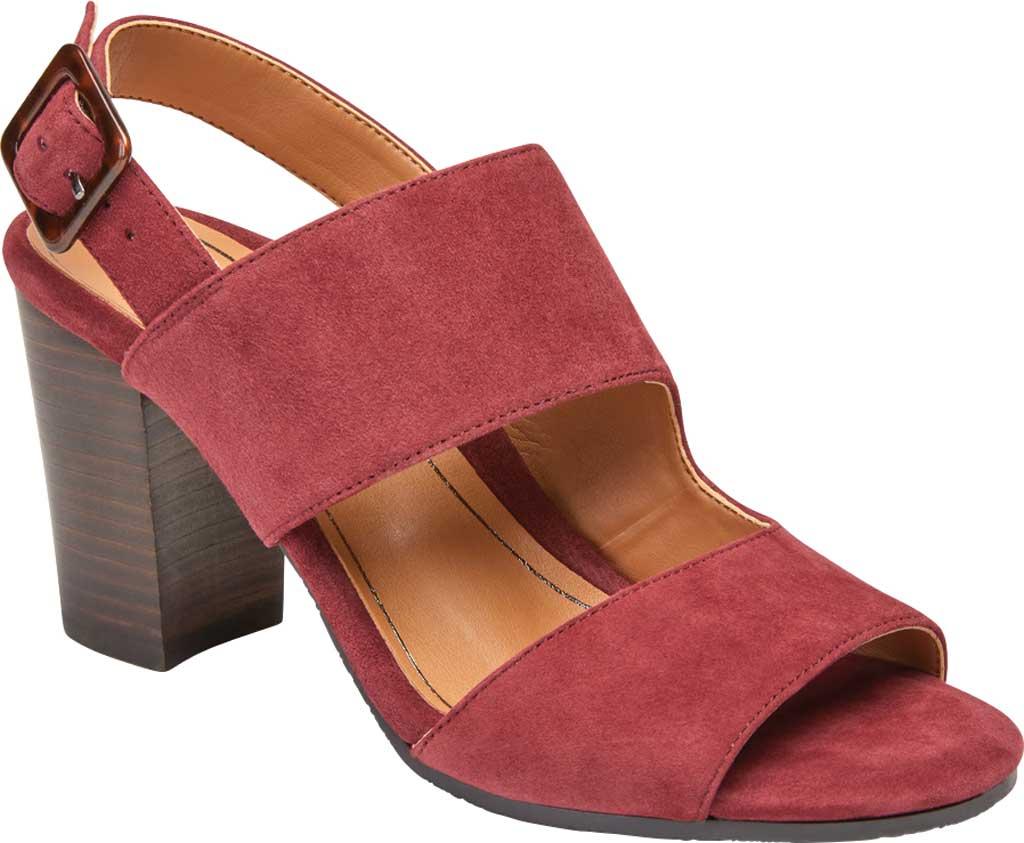Women's Vionic Bianca Backstrap Heeled Sandal, Wine Suede, large, image 1