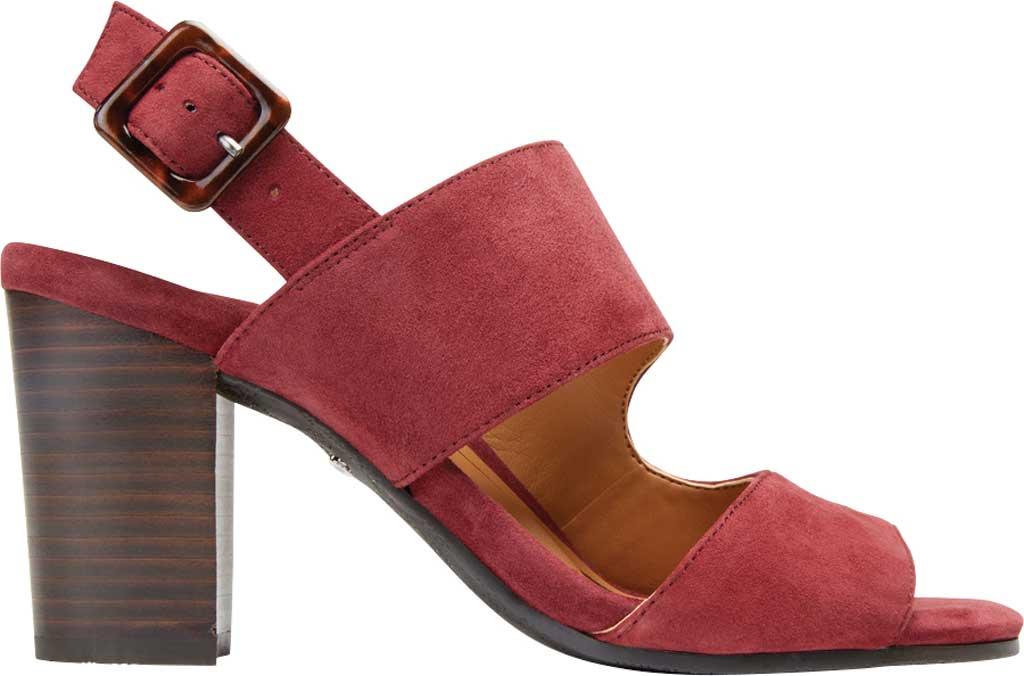 Women's Vionic Bianca Backstrap Heeled Sandal, Wine Suede, large, image 2