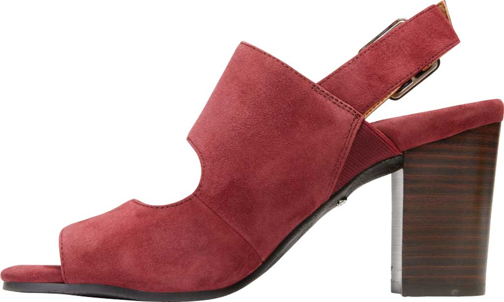 Women's Vionic Bianca Backstrap Heeled Sandal, Wine Suede, large, image 3