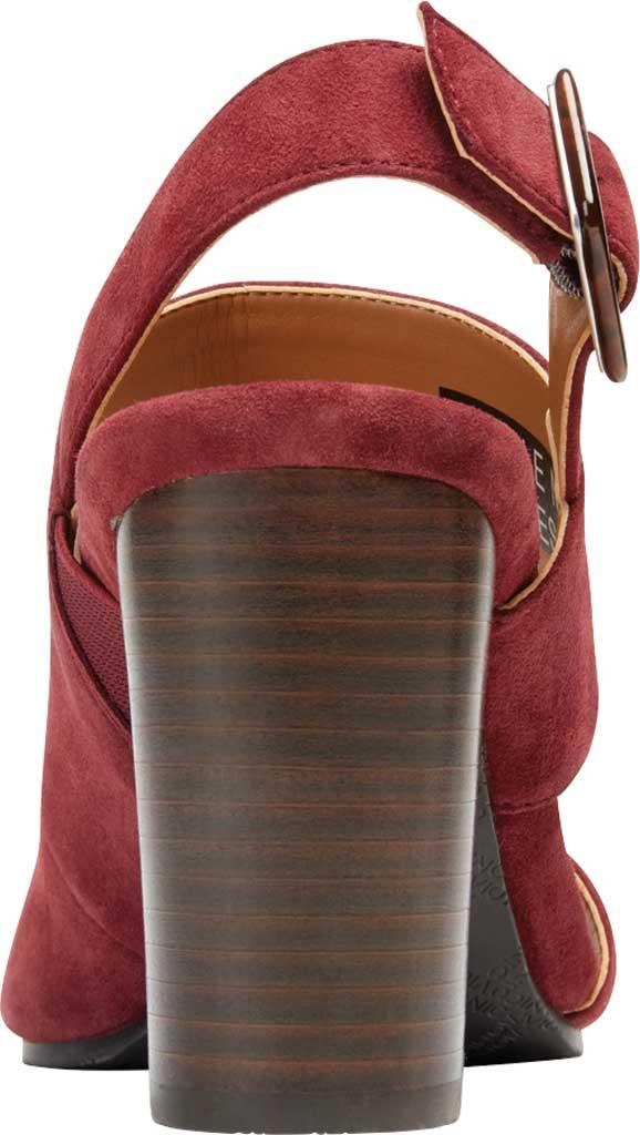 Women's Vionic Bianca Backstrap Heeled Sandal, Wine Suede, large, image 4