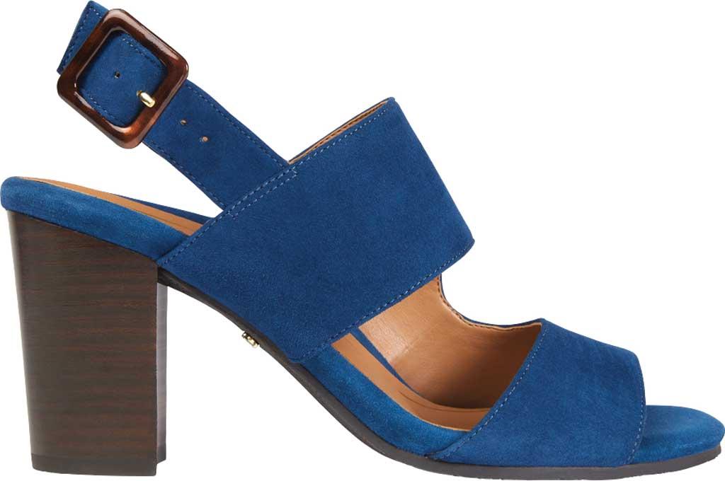 Women's Vionic Bianca Backstrap Heeled Sandal, Dark Blue Suede, large, image 2