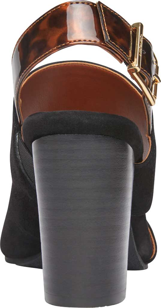 Women's Vionic Bianca Backstrap Heeled Sandal, Black Tortoise Suede, large, image 4