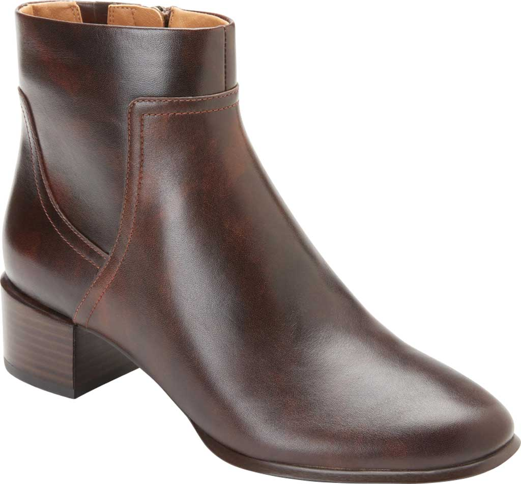 Women's Vionic Kamryn Waterproof Ankle Bootie, Chocolate Tipped Leather, large, image 1