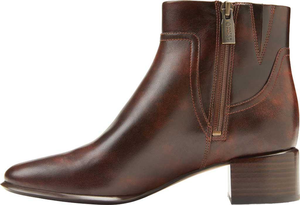 Women's Vionic Kamryn Waterproof Ankle Bootie, Chocolate Tipped Leather, large, image 3