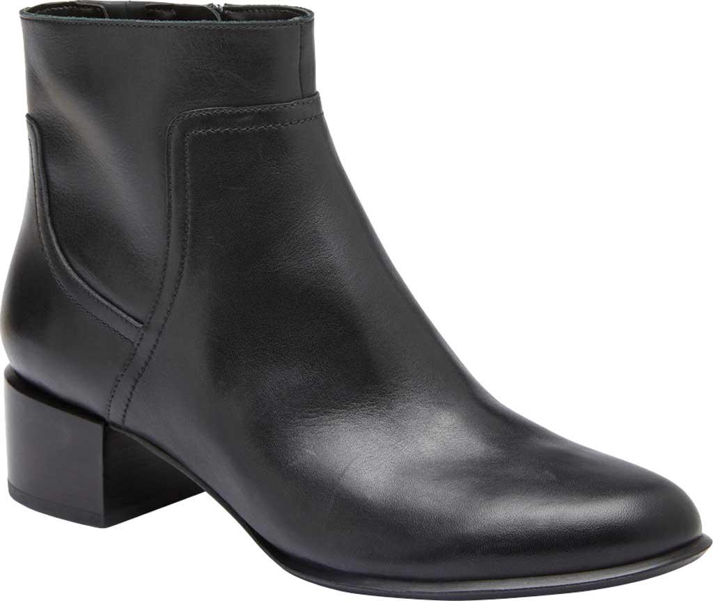 Women's Vionic Kamryn Waterproof Ankle Bootie, Black Leather, large, image 1