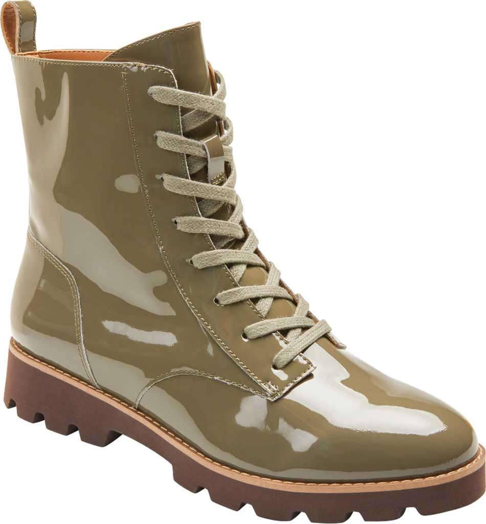 Women's Vionic Lani Lace Up Ankle Boot, Olive Patent Leather, large, image 1