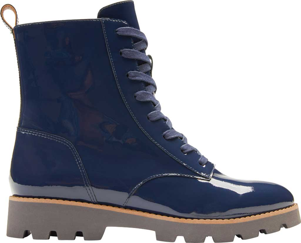 Women's Vionic Lani Lace Up Ankle Boot, Navy Patent Leather, large, image 2