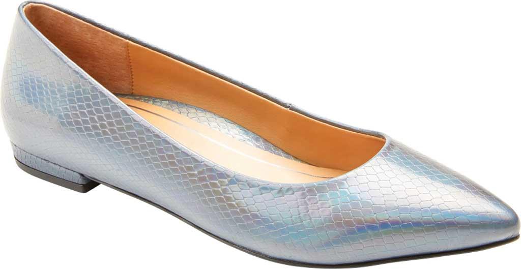 Women's Vionic Lena Pointed Toe Ballet Flat, Iridescent Snake Metallic/Leather, large, image 1