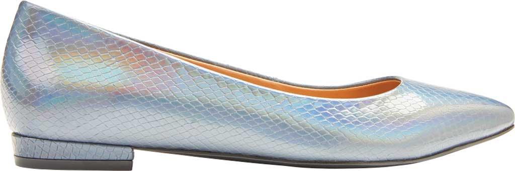 Women's Vionic Lena Pointed Toe Ballet Flat, Iridescent Snake Metallic/Leather, large, image 2