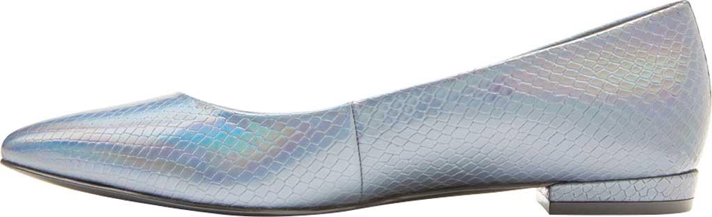 Women's Vionic Lena Pointed Toe Ballet Flat, Iridescent Snake Metallic/Leather, large, image 3