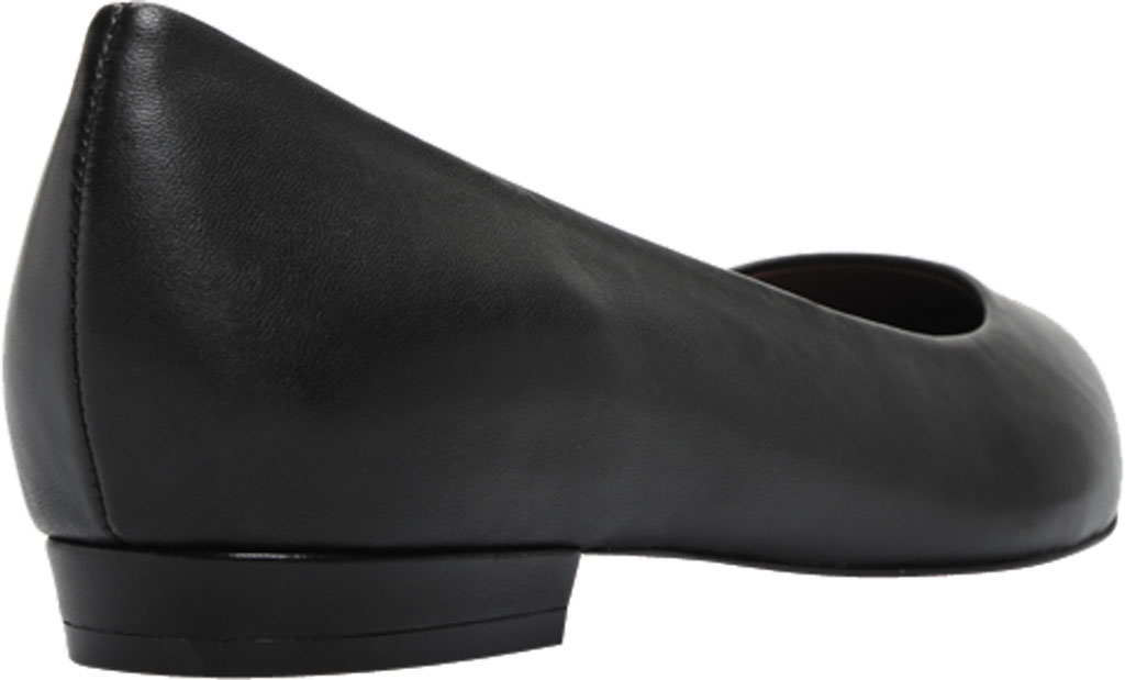 Women's Vionic Lena Pointed Toe Ballet Flat, Black Nappa Leather, large, image 4