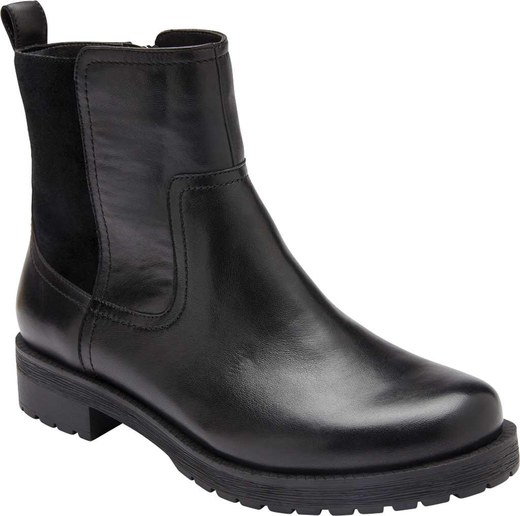 Women's Vionic Brynn Waterproof Ankle Bootie, Black Waterproof Leather/Suede, large, image 1