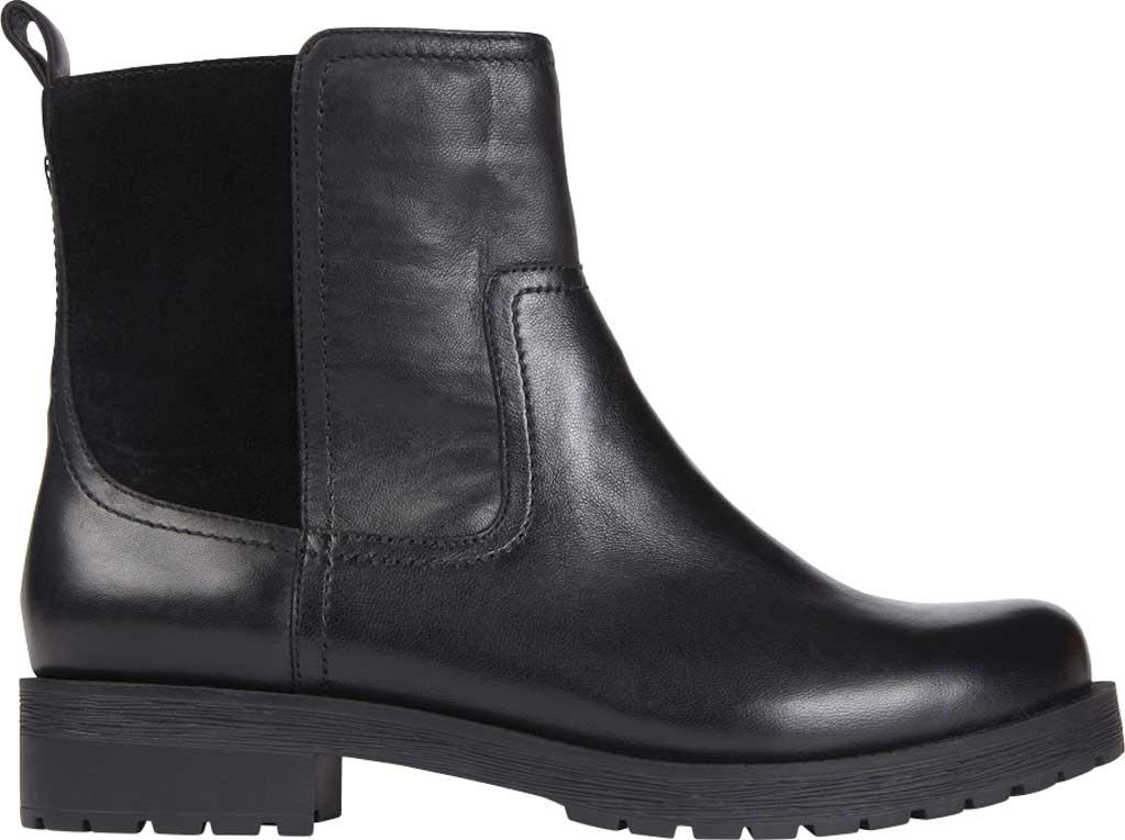 Women's Vionic Brynn Waterproof Ankle Bootie, Black Waterproof Leather/Suede, large, image 2