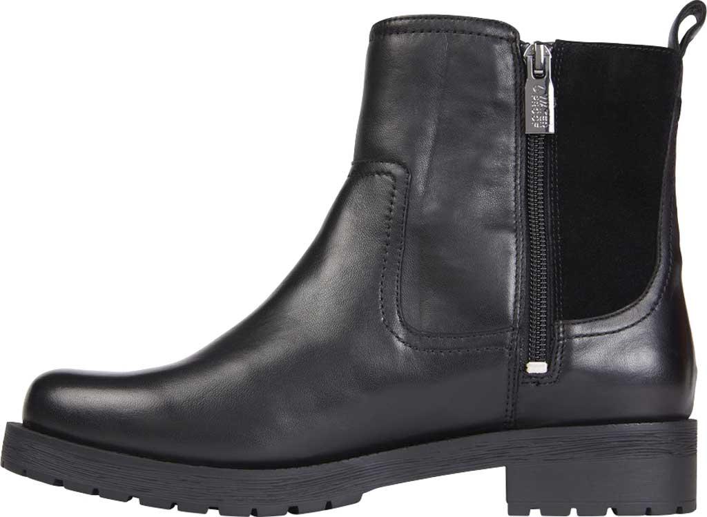 Women's Vionic Brynn Waterproof Ankle Bootie, Black Waterproof Leather/Suede, large, image 3