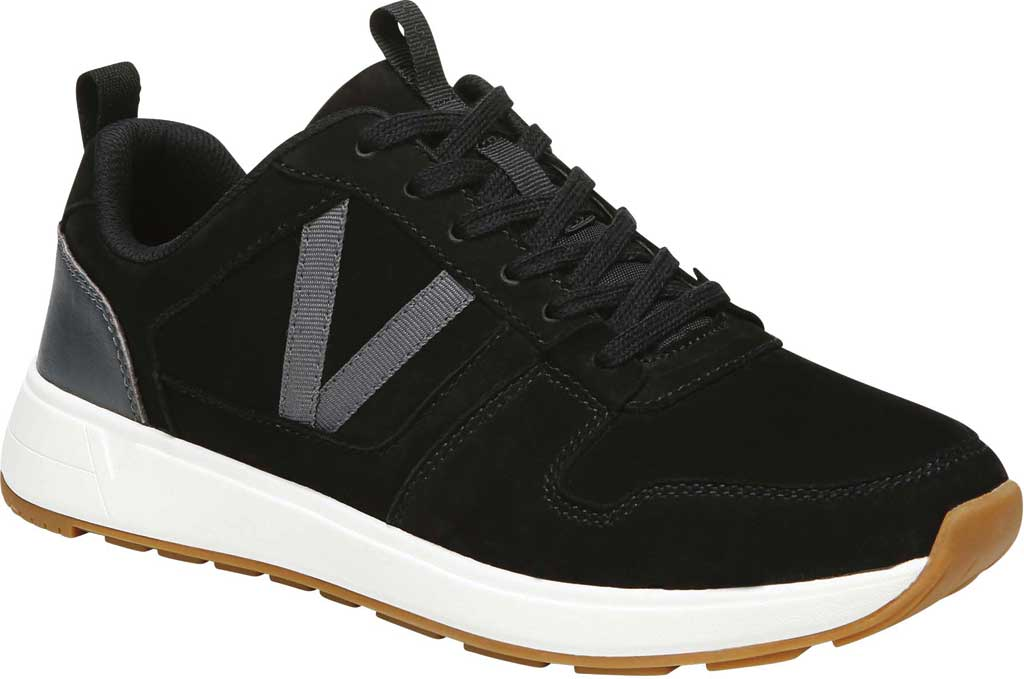 Women's Vionic Rechelle Lace Up Sneaker, Black Nubuck Leather, large, image 1