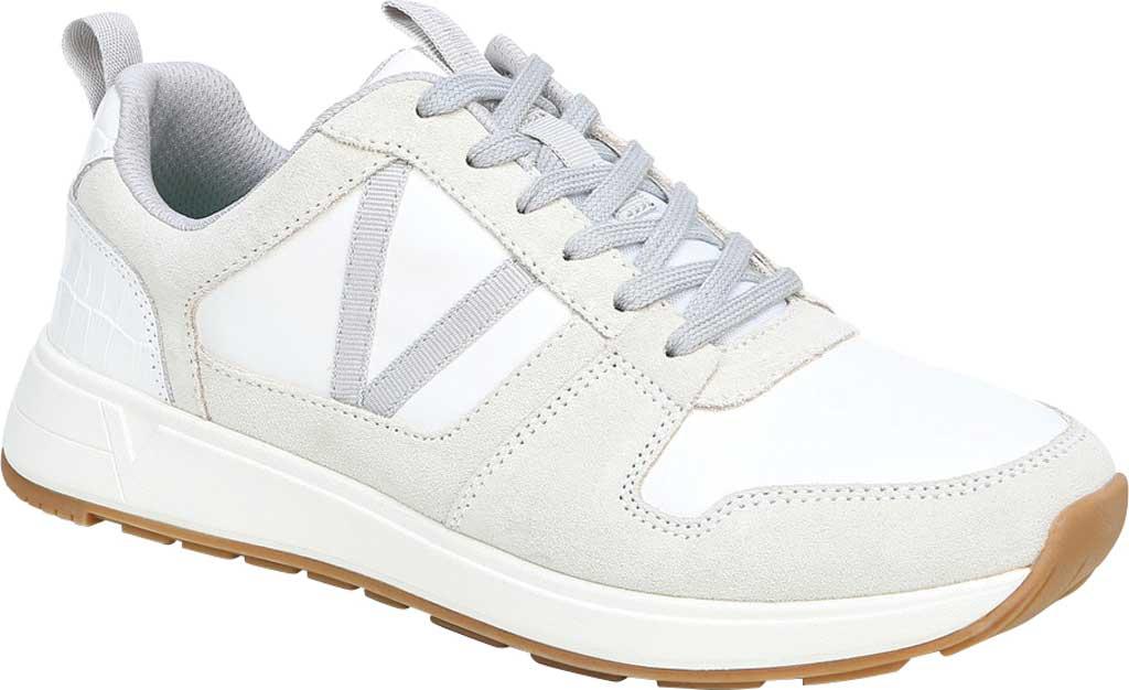 Women's Vionic Rechelle Lace Up Sneaker, White Croc Suede, large, image 1