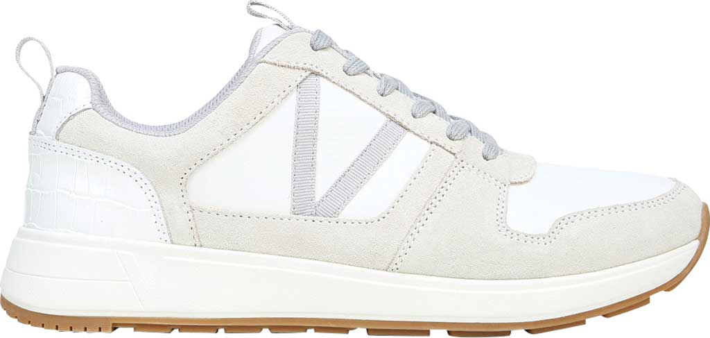 Women's Vionic Rechelle Lace Up Sneaker, White Croc Suede, large, image 2