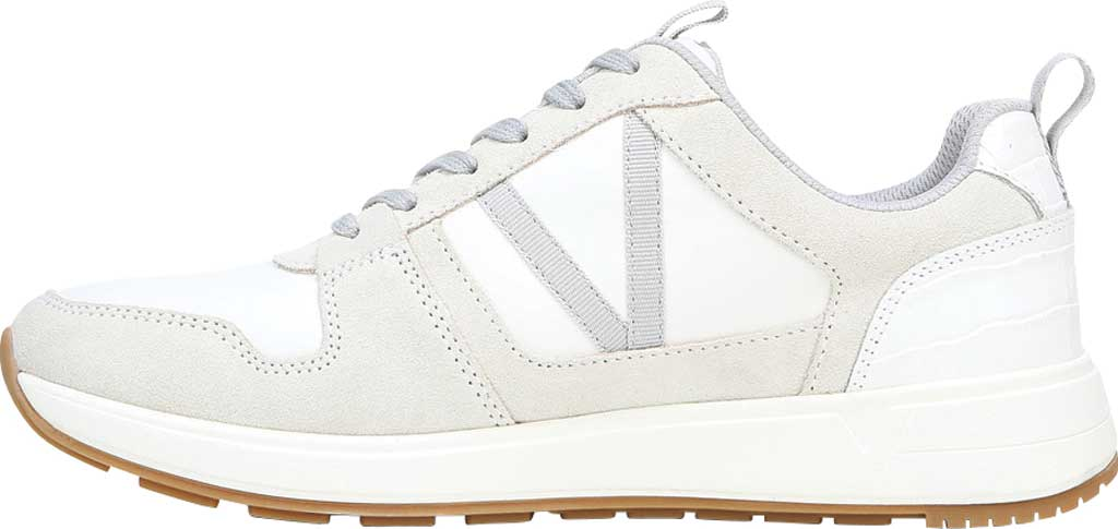 Women's Vionic Rechelle Lace Up Sneaker, White Croc Suede, large, image 3