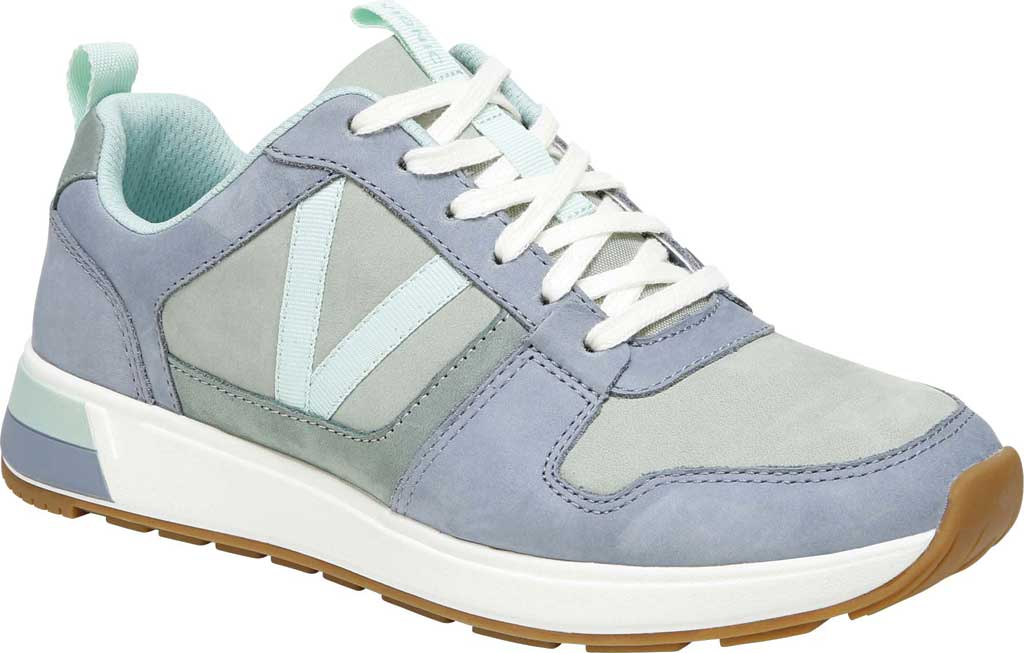 Women's Vionic Rechelle Lace Up Sneaker, Light Blue/Lichen Nubuck Leather, large, image 1