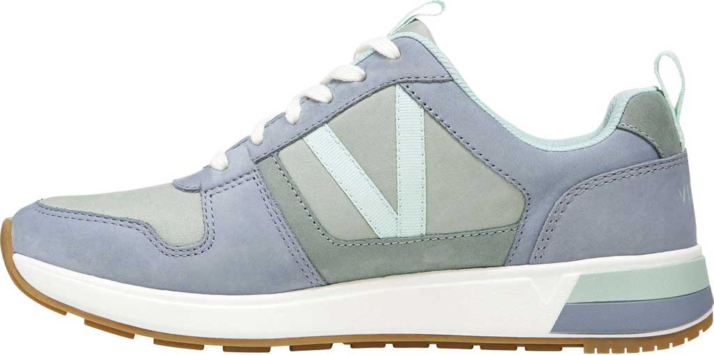 Women's Vionic Rechelle Lace Up Sneaker, Light Blue/Lichen Nubuck Leather, large, image 3