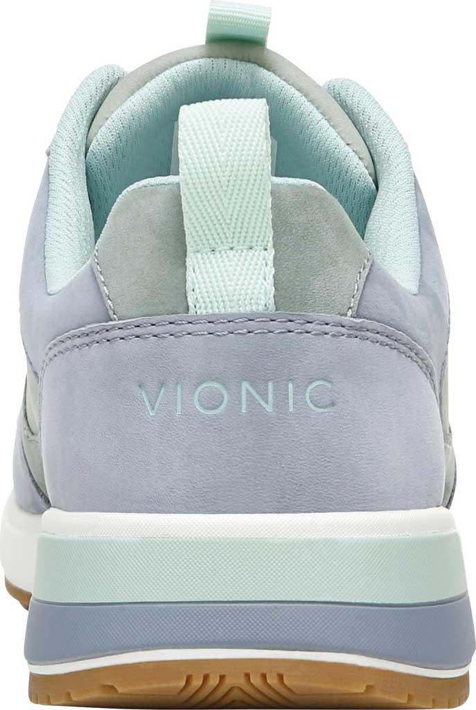 Women's Vionic Rechelle Lace Up Sneaker, Light Blue/Lichen Nubuck Leather, large, image 4
