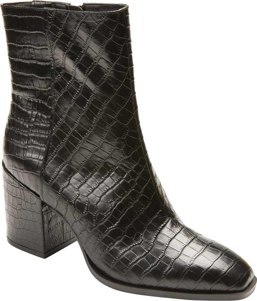 Women's Vionic Harper Ankle Bootie, Black Croc Leather, large, image 1
