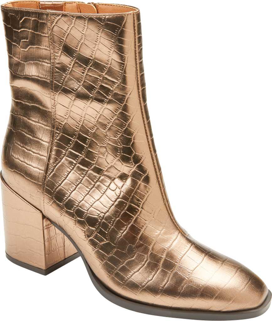 Women's Vionic Harper Ankle Bootie, Bronze Croc Metallic/Leather, large, image 1