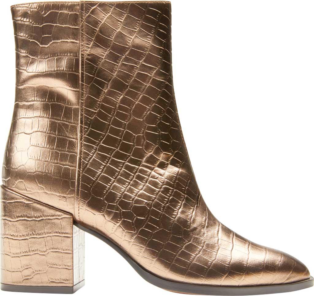 Women's Vionic Harper Ankle Bootie, Bronze Croc Metallic/Leather, large, image 2
