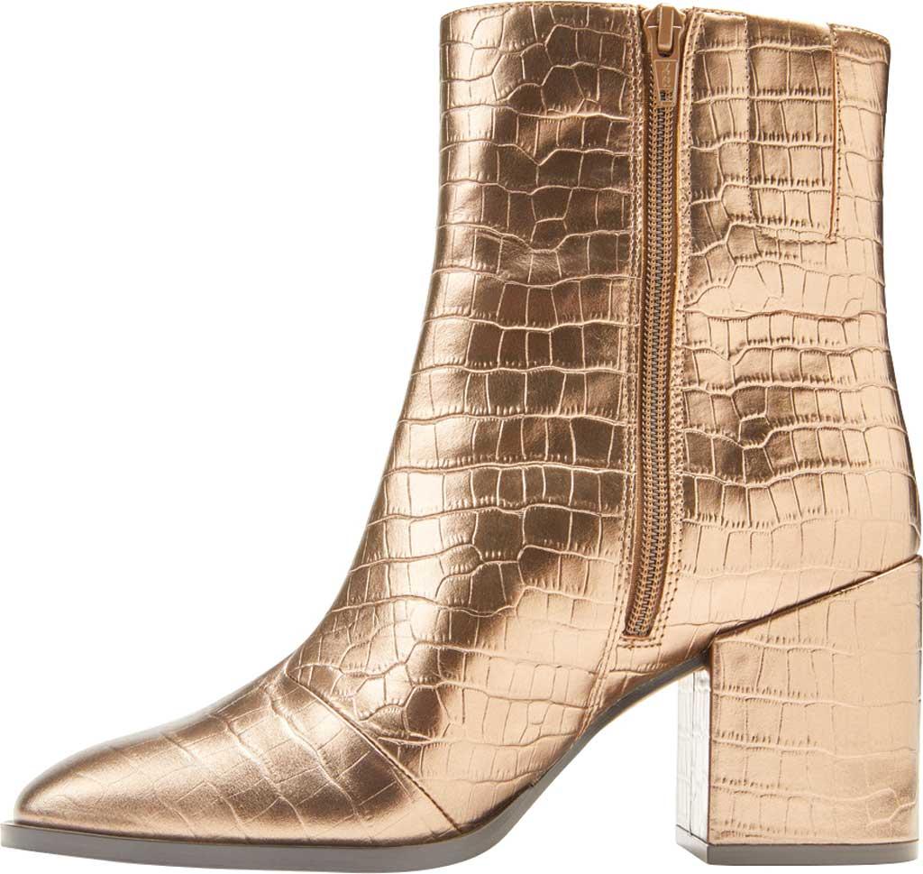 Women's Vionic Harper Ankle Bootie, Bronze Croc Metallic/Leather, large, image 3