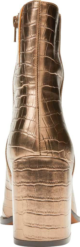 Women's Vionic Harper Ankle Bootie, Bronze Croc Metallic/Leather, large, image 4