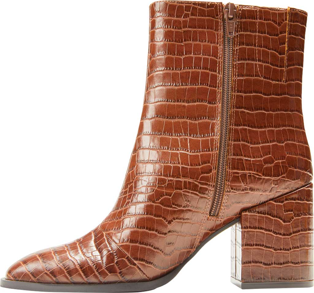 Women's Vionic Harper Ankle Bootie, Brown Croc Leather, large, image 3