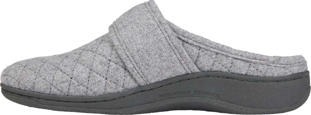 Women's Vionic Carlin Mule Slipper, Light Grey Quilted Flannel, large, image 3