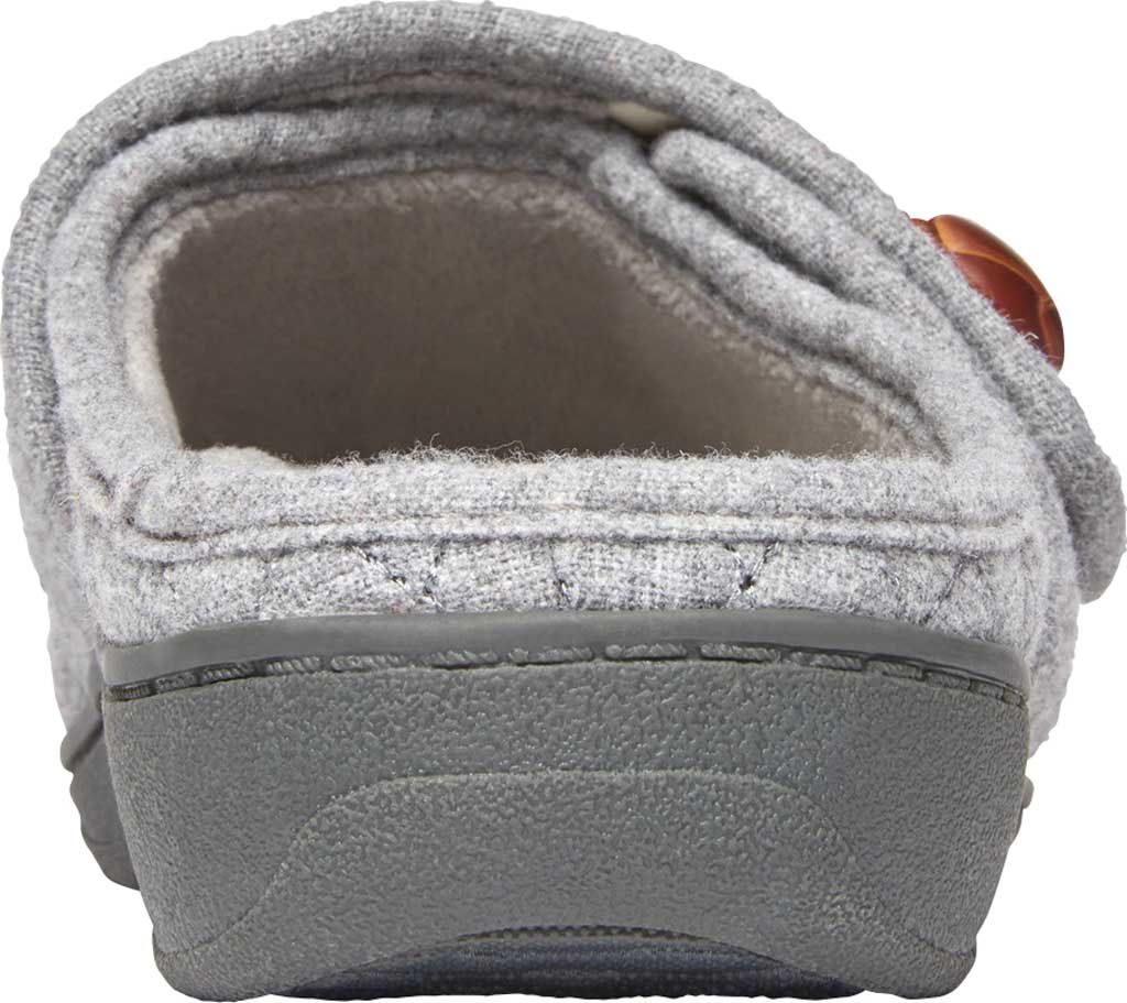 Women's Vionic Carlin Mule Slipper, Light Grey Quilted Flannel, large, image 4