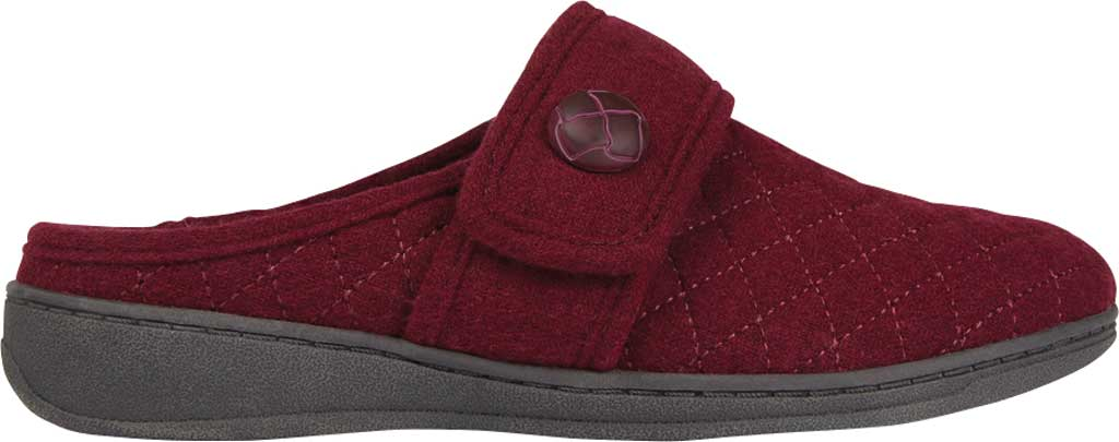 Women's Vionic Carlin Mule Slipper, Wine Quilted Flannel, large, image 2