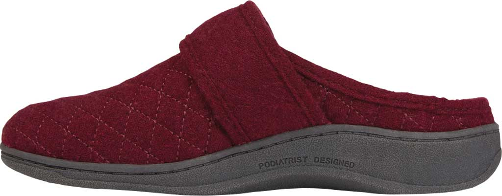 Women's Vionic Carlin Mule Slipper, Wine Quilted Flannel, large, image 3