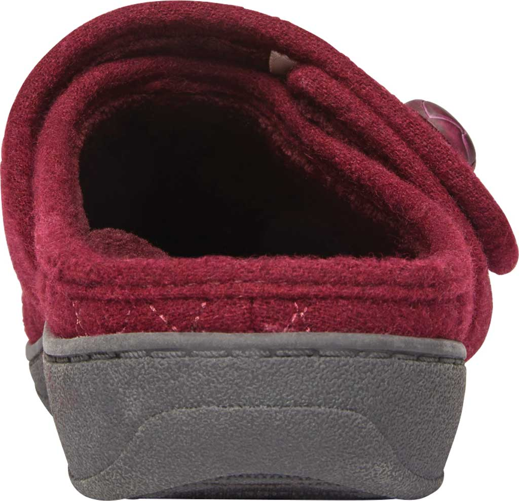 Women's Vionic Carlin Mule Slipper, Wine Quilted Flannel, large, image 4