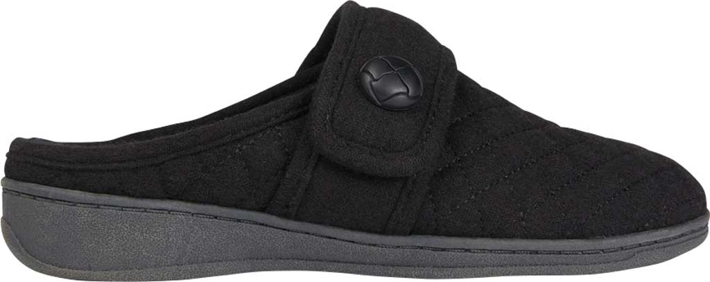 Women's Vionic Carlin Mule Slipper, Black Quilted Flannel, large, image 2